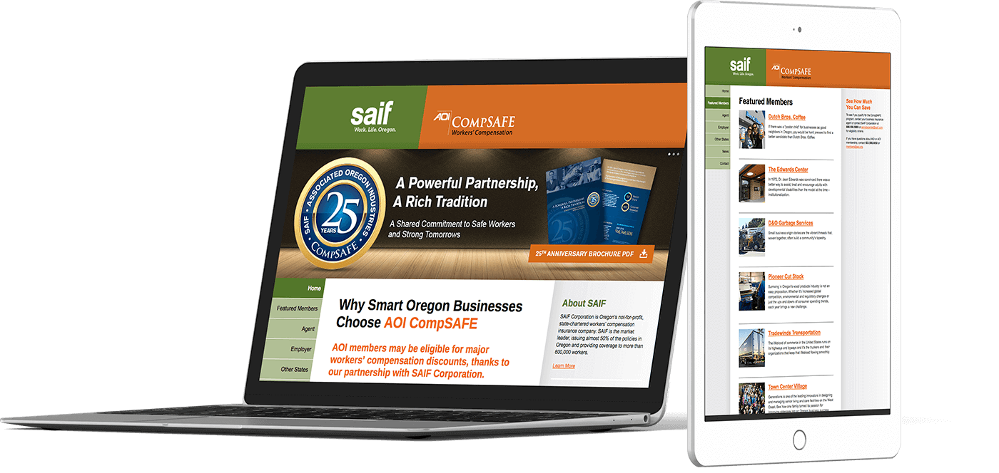 Web Design In House Graphics Salem Oregon AOI Compsafe