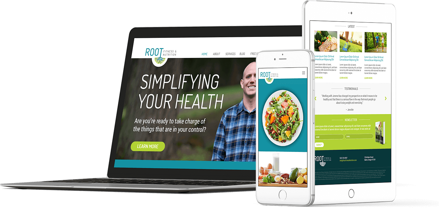 Web Design In House Graphics Salem Oregon - Root Fitness
