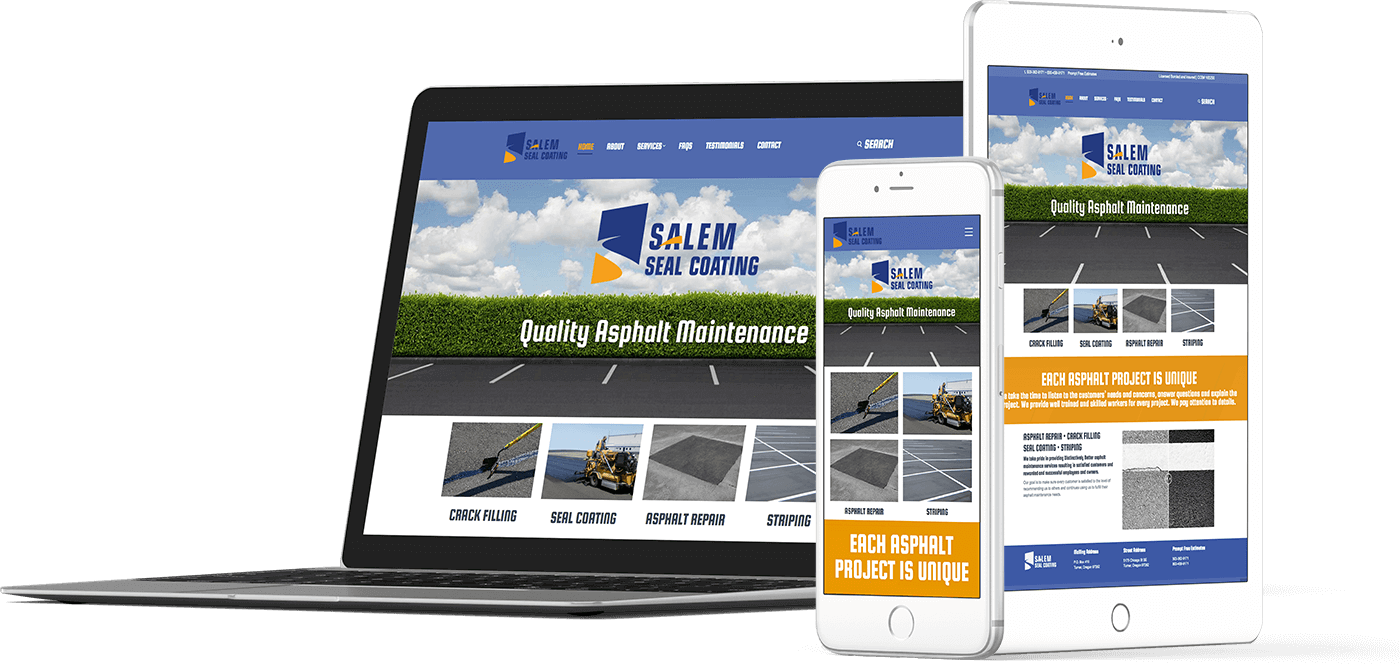 Web Design In House Graphics Salem Oregon - Salem Seal Coating