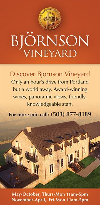 Ad Design In House Graphics Salem Oregon Bjornson Vineyard