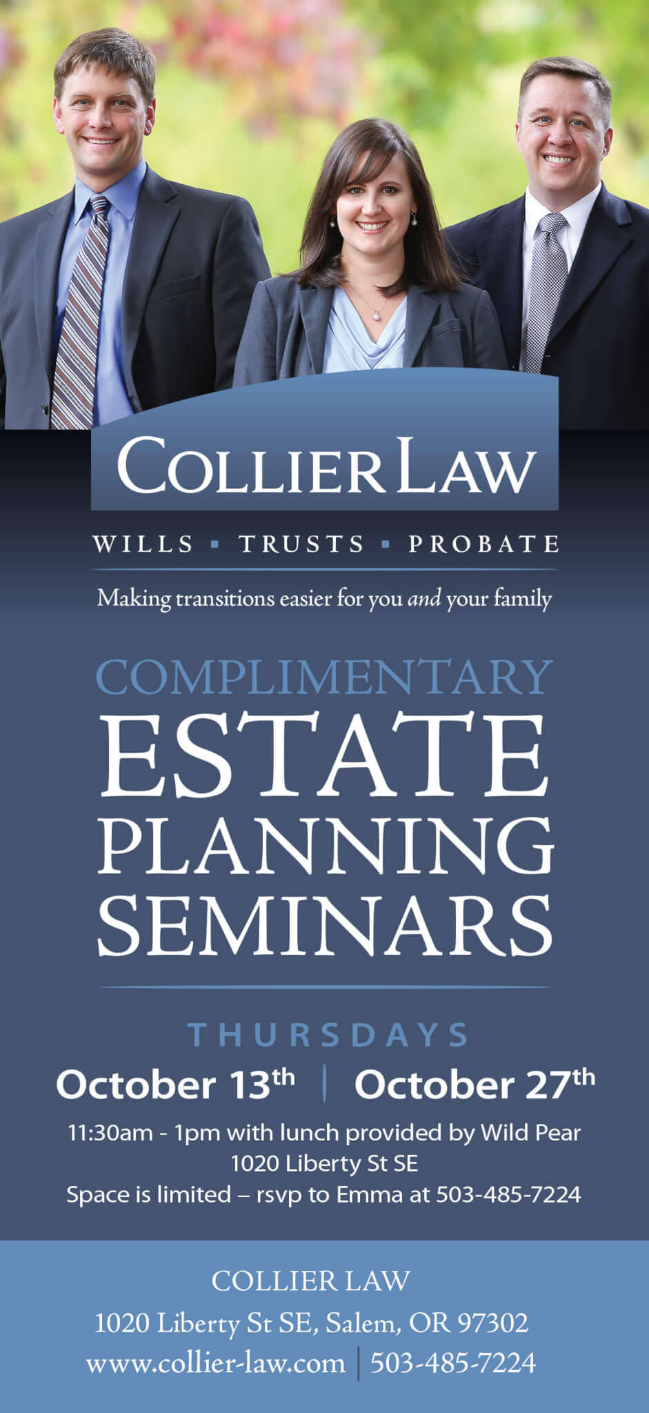 Ad Design In House Graphics Salem Oregon - Collier Law