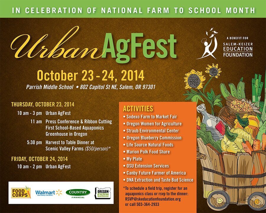 Ad Design In House Graphics Salem Oregon - Urban Agfest