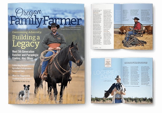Newsletter Design In House Graphics Salem Oregon Oregon Family Farmer