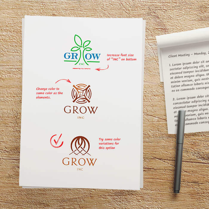 In House Graphics Salem Oregon - Logo Design Process Step 5