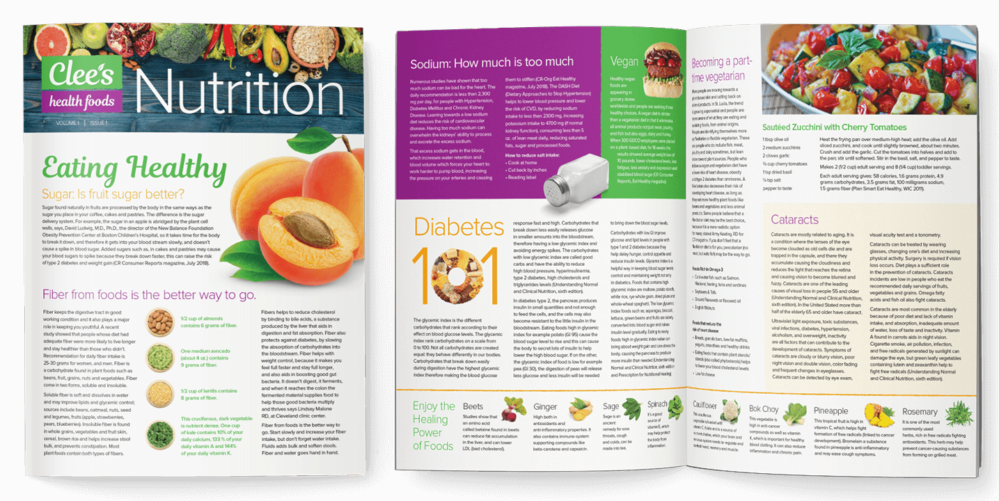 Newsletter Design In House Graphics Salem Oregon Clee's Health Foods